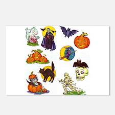 Halloween 56 Postcards (Package of 8)