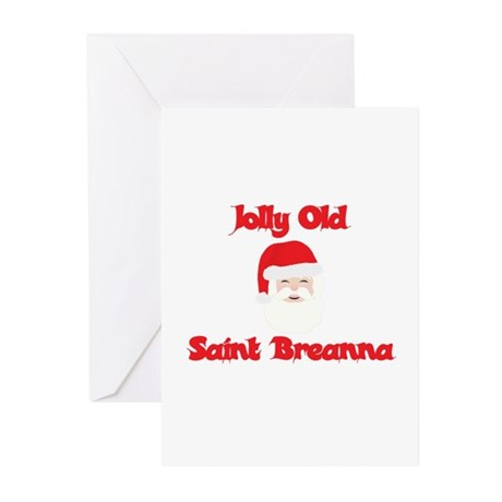 Jolly Old Saint Breanna Greeting Cards (Pk of 10)