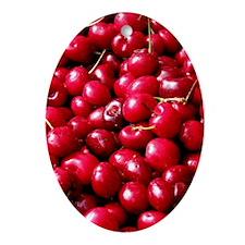 Helaine's Cherries Oval Ornament
