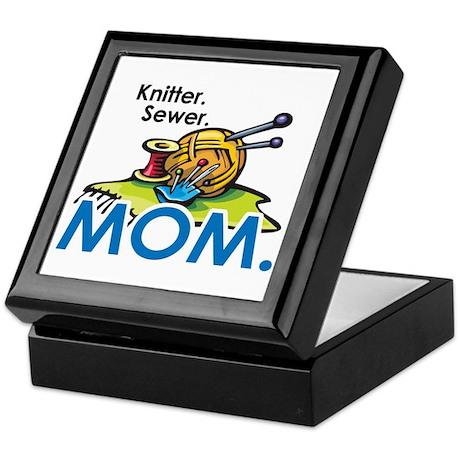 Knitter. Sewer. MOM. Keepsake Box