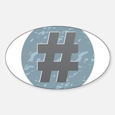 Hash Tag - Pound Decal