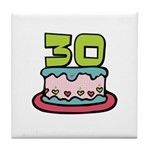 30th Birthday Cake Tile Coaster