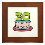 30th Birthday Cake Framed Tile