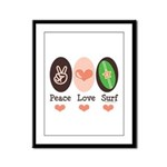 Surfing Peace Love Surf Surfboard Framed Panel Pri