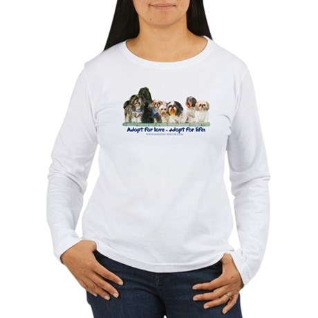 Shih Tzu Christmas Adopt Women's Long Sleeve T-Shi