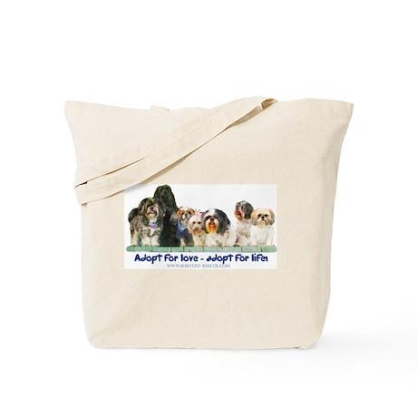 Shih Tzu Christmas Adopt Tote Bag