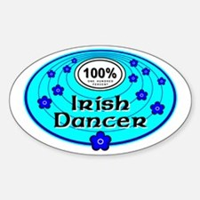 Blue 100% Irish Dancer Oval Decal