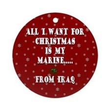 All I want for Christmas Ornament (Round)