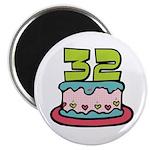 32nd Birthday Cake Magnet