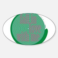 St. Patrick's Day Subliminal Oval Decal
