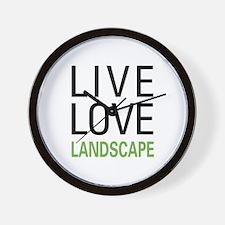 Live Love Landscape Wall Clock