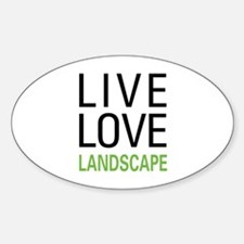 Live Love Landscape Oval Decal