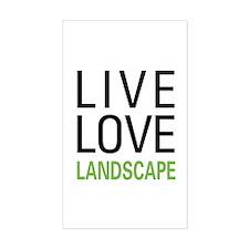Live Love Landscape Rectangle Decal