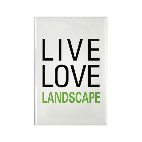 Live Love Landscape Rectangle Magnet (100 pack)