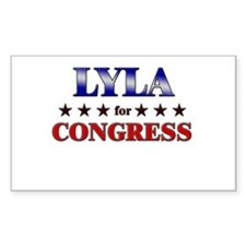 LYLA for congress Rectangle Decal