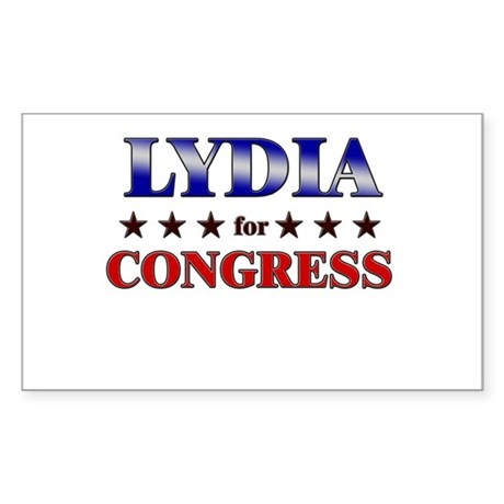 LYDIA for congress Rectangle Sticker