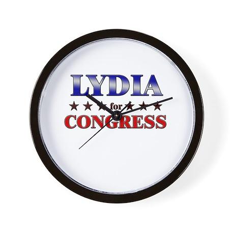 LYDIA for congress Wall Clock
