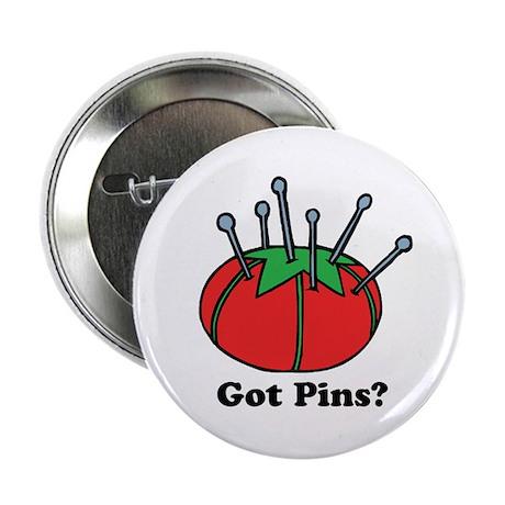 """Got Pins? Pin Cushion 2.25"""" Button (100 pack)"""