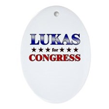 LUKAS for congress Oval Ornament