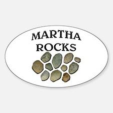 Martha Rocks Oval Decal