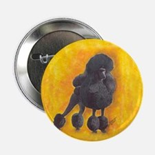 """Black Standard Poodle 2 2.25"""" Button"""