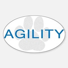 Agility Paw Oval Decal