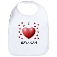 I Love Savanah - Bib