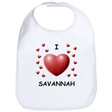 I Love Savannah - Bib