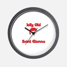Jolly Old Saint Gianna Wall Clock