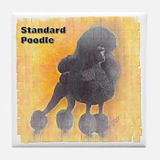 Black Standard Poodle 1 Tile Coaster