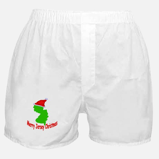 Merry Jersey Christmas Boxer Shorts