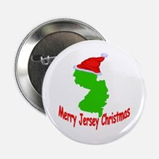 "Merry Jersey Christmas 2.25"" Button"