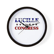 LUCILLE for congress Wall Clock