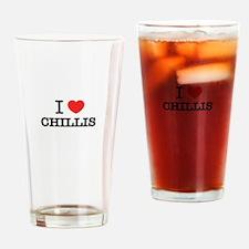 I Love CHILLIS Drinking Glass