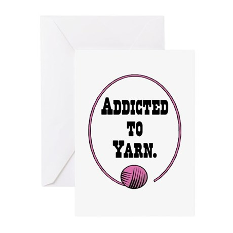 Addicted To Yarn Greeting Cards (Pk of 20)