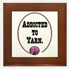 Addicted To Yarn Framed Tile