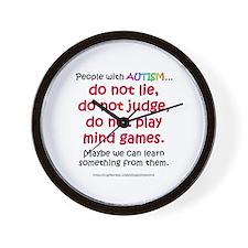 No Games (People) Wall Clock