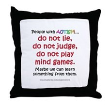 No Games (People) Throw Pillow