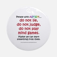 No Games (People) Ornament (Round)