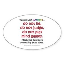 No Games (People) Oval Bumper Stickers