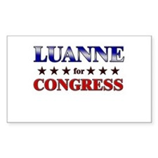 LUANNE for congress Rectangle Decal