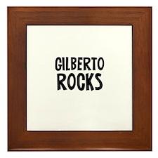 Gilberto Rocks Framed Tile