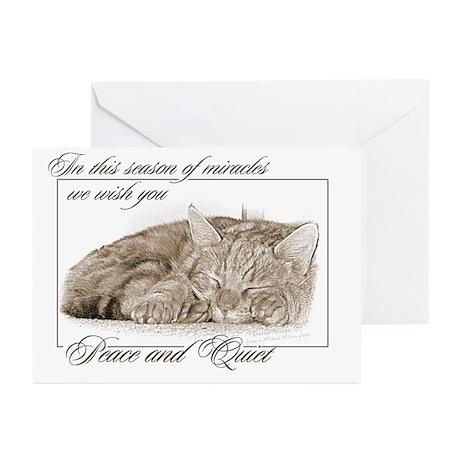 Sleeping Kitten Greeting Cards (Pk of 20)