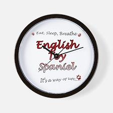 English Toy Breathe Wall Clock