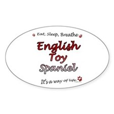 English Toy Breathe Oval Decal