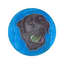 """Black Labrador Retriever Tenn 3.5"""" Button"""