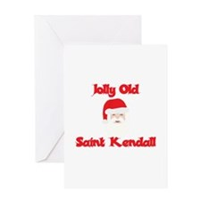 Jolly Old Saint Kendall Greeting Card