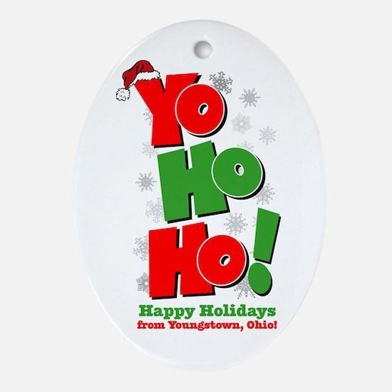 Yo Ho Ho Oval Ornament