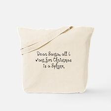 Sphynx for Christmas Tote Bag