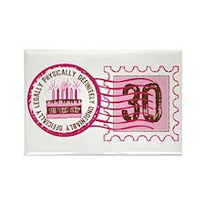 Birthday Stamp 30 Rectangle Magnet